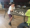 8 year old Ethan Cole wins simul at Greenisland FC with score of 16-0