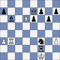 Black wins with mate