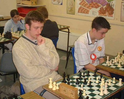 Richard Morrow and James Wu playing in the Senior Schools Competition