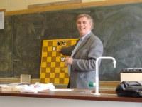 Eddie Whiteside during his presentation