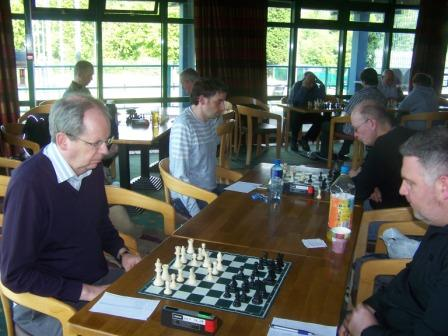 Michael Waters, Steve Scannell, Gareth Annesley and Ian Woodfield playing an all play all for the Nemtzov Cup
