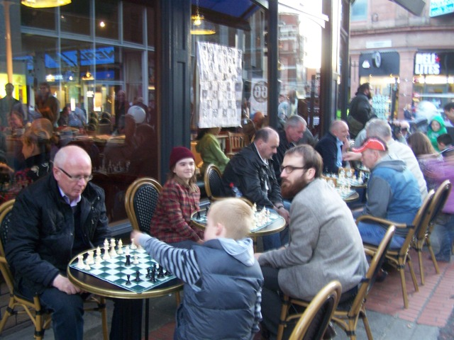All ages enjoying chess - Belfast Culture Night