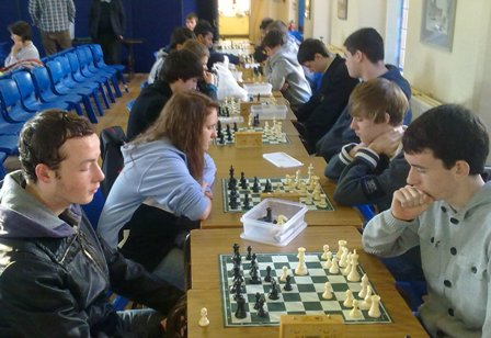 The under19 Ulster Champion Karina Kruk playing Thomas Donaldson. In the foreground Matthew Chapman plays Chris Roe.