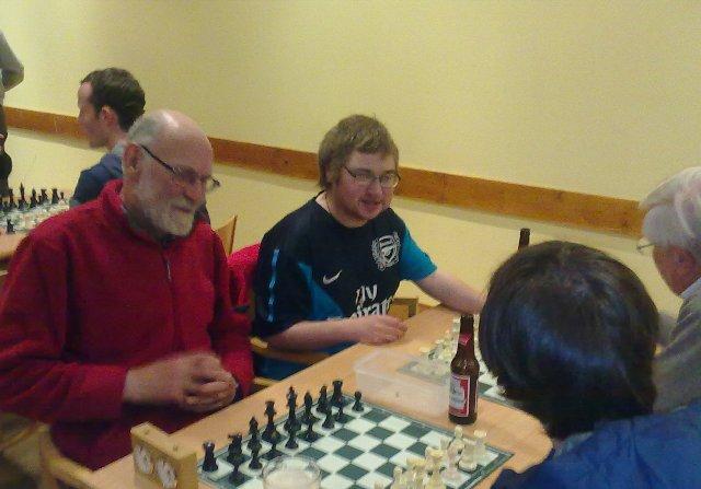 David and Garry enjoying the chess