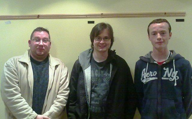 1st Robert Lavery 2nd Matthew Chapman 3rd Damien Lavery