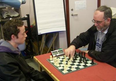 Matthew Chapman playing John Bradley