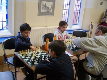 Youngsters enjoying a game