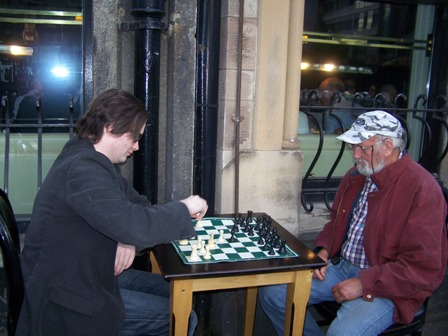 Culture Night 2013 Damien playing street chess