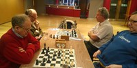 Boards 4 & 5: Geoff Hindley vs John Monaghan, Pete Storey vs Paul Logan