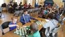 Children enjoying chess in Belfast
