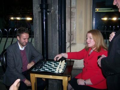 Naomi Long MP winning the game