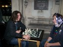 Young chess playing enjoying a game