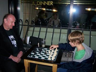Adrian playing a future champion