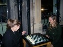 Night falls Chess is played