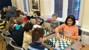 Children enjoying chess at the January Childrens Tournament