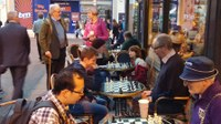 A brilliant culture night with Chess at the Caffe Nero
