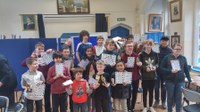 Top competitive play at Aprils Childrens Chess 2018