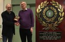 Ulster Chess Union present David McAlister with an 'Honorary Lifetime Membership Award'
