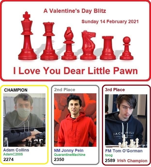 Tournament Report: 46 enter Valentine's Day Blitz