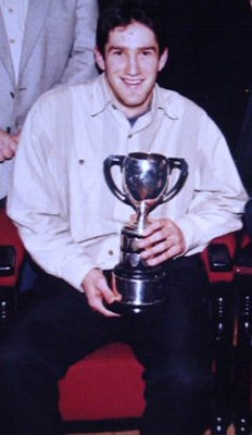 Adrian Gillen with the Dr McSparran Cup