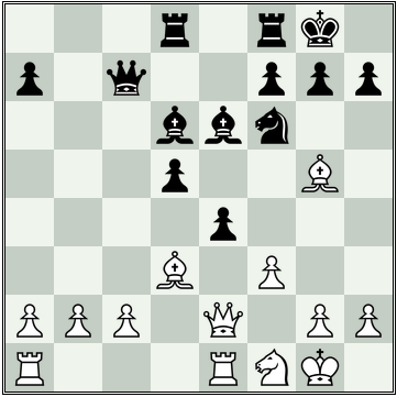 Position after Black's 17th move
